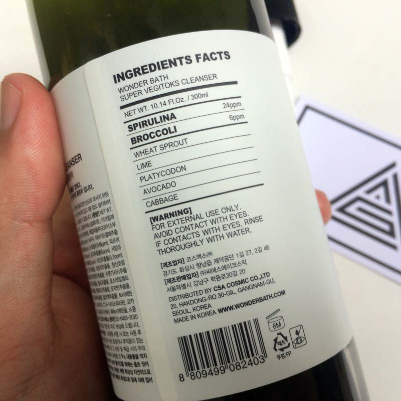 Sữa Rửa Mặt Rau Củ Hàn Quốc SUPER VEGITOKS CLEANSER
