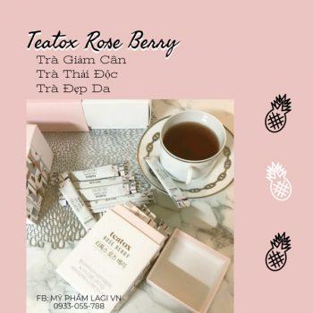 Teatox Rose Berry – Trà Giảm Cân + Đẹp Da | Hàn Quốc