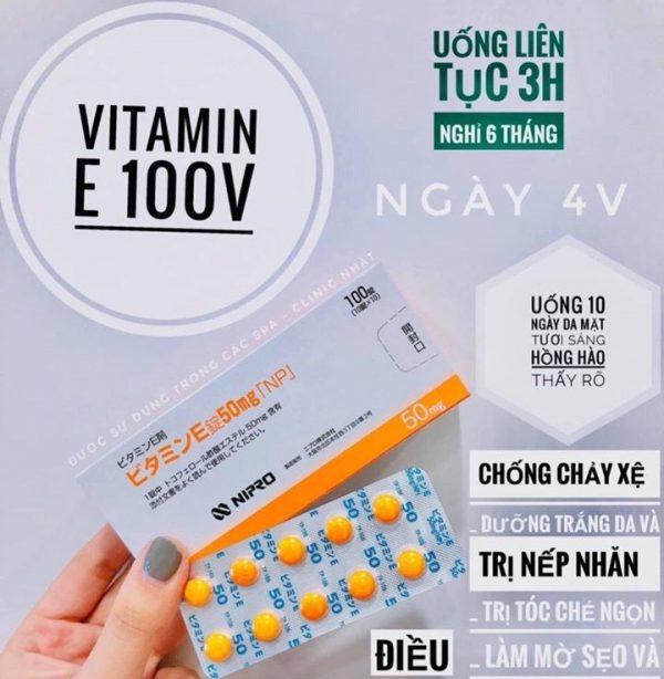 Viên Uống Vitamin E Nipro Nhật Bản